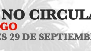 Hoy No Circula Hidalgo 29 de septiembre 2020