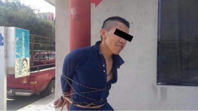 Presunto ladrón retenido en Progreso
