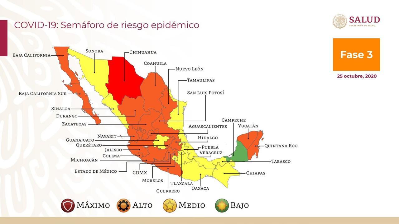 Mapa estados Covid 19