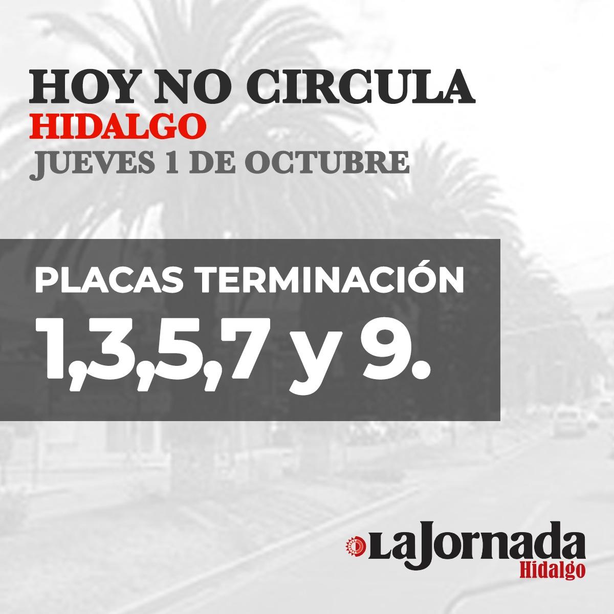 Hoy No Circula Hidalgo 03 Octubre