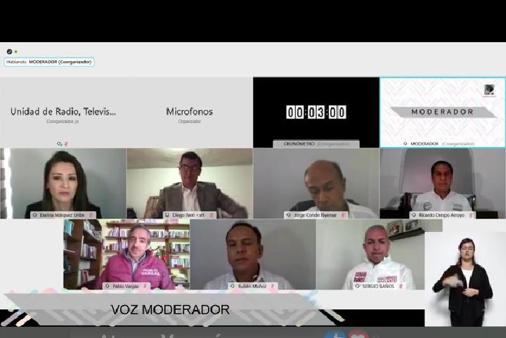 Debate virtual candidatos Pachuca