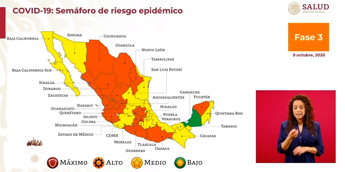 Hidalgo continuará en semáforo naranja por Covid-1