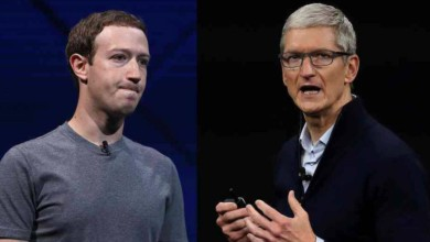 Mark Zuckerberg y Tim Cook