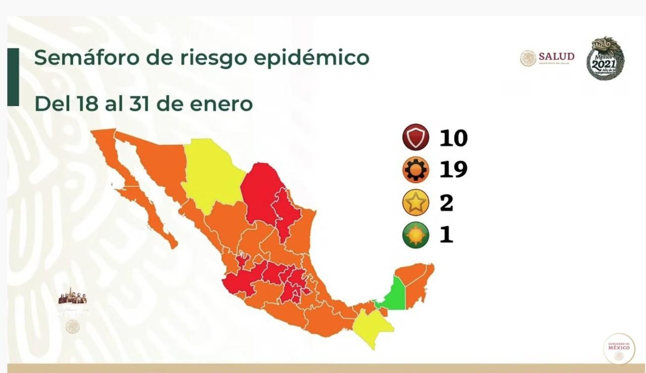 semáforo rojo Hidalgo