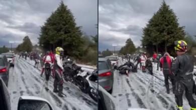 Granizada en la México-Cuernavaca provoca cuatro accidentes