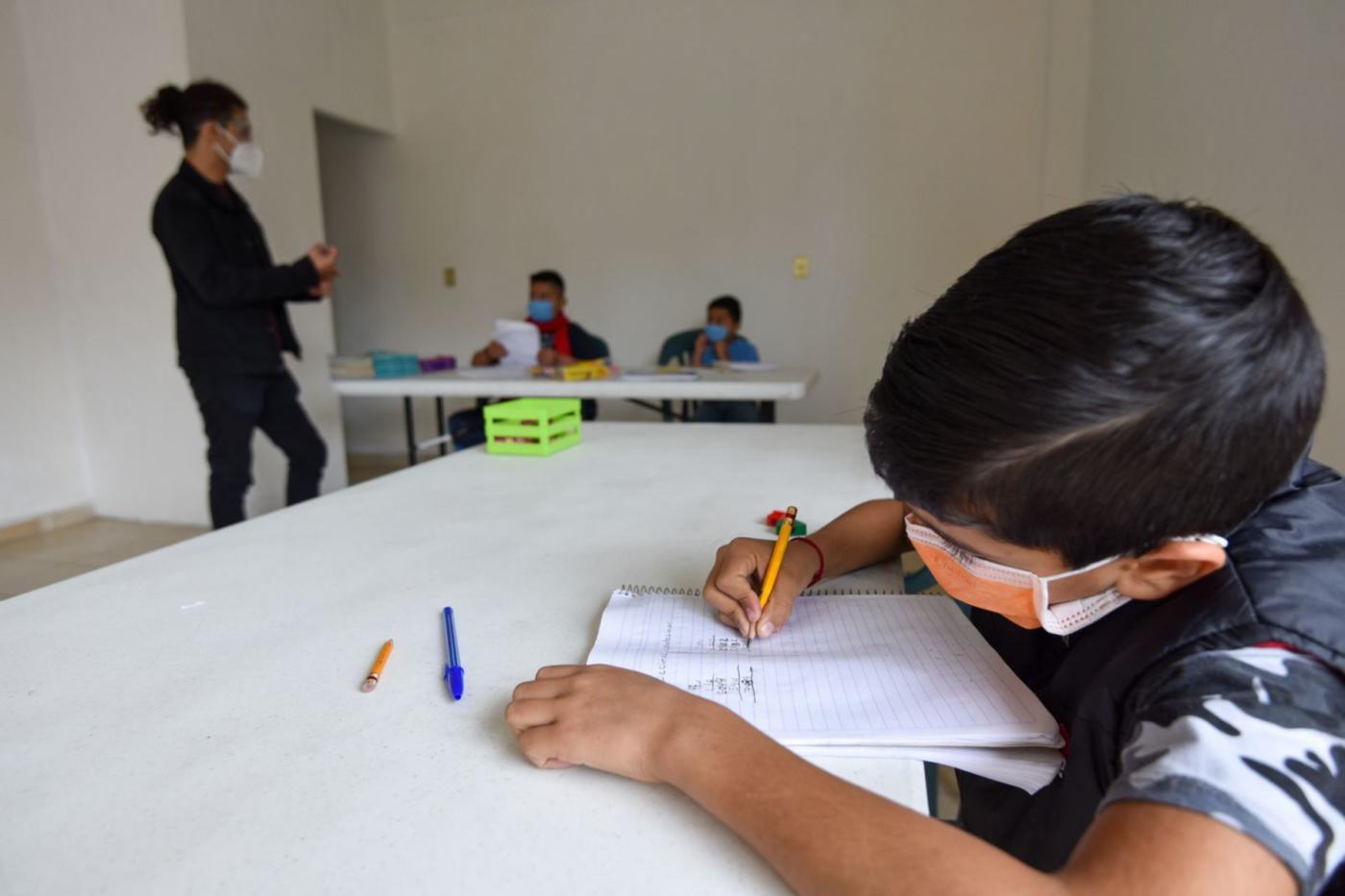 Alumno en clases presenciales