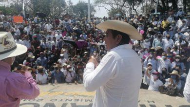 Félix Salgado Macedonio durante la asamblea estatal en Chilpancingo, Guerrero. Foto Sergio Ocampo